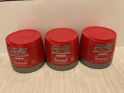 3 X 250ml BRYLCREEM BRYLCREAM ORIGINAL HAIR STYLING RED TUB STOCK UP • 6£