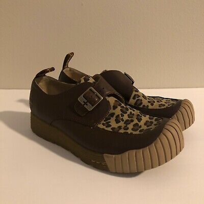 £60.23 • Buy Dr Martens Brown Leopard Buckle Creepers Shoes Sz 8 US