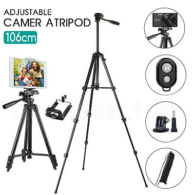 AU13.90 • Buy Professional Camera Tripod Stand Mount Phone Holder For IPhone DSLR Travel AU