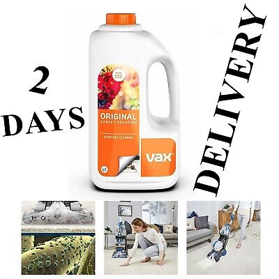 Vax Carpet Shampoo Upholstery Cleaning Solution For ALL Vax Carpet Cleaners 1.5L • 14.44£
