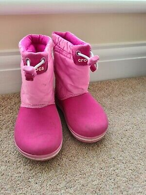 Crocs Snow Boots Pink Infant C8 Girls • 8£