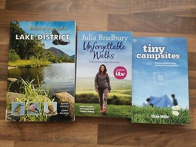 Birdwatching Lake District Walking Tiny Campsite Books Julia Bradbury Dixe • 10£