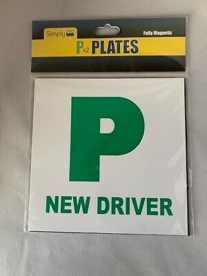 P Plates - Fully Magnetic P Plates X 2 - Passed Green • 0.99£