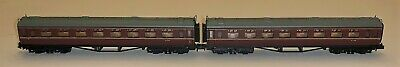 A Pair Of Dapol N Gauge Collett Carriages In BR Maroon • 30£