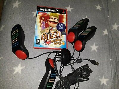 Buzz The Music Quiz  Sony PS2 And Buzzers • 14.99£