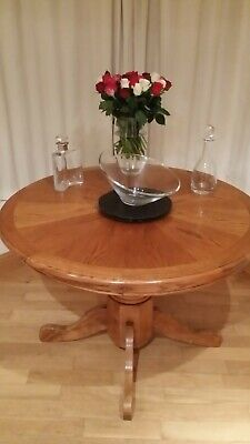 Round Wooden Dining Or Hall Table • 30£