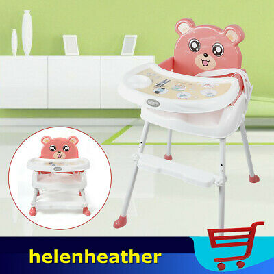 Portable Baby Feeding High Chair Seat Infant Stool Highchair Adjustable Height • 25.40£