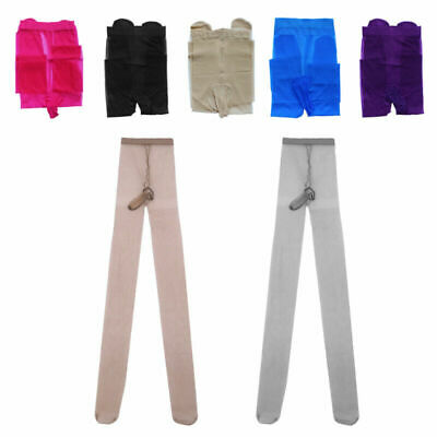 $5.69 • Buy US Men Underwear Footed Stockings Skin Tight Pantyhose With Sheath Pouch Pants