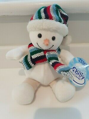 Tesco Chilly And Friends Soft Toy Snowman Chilly Plush 20cm New With Tags  • 9.50£