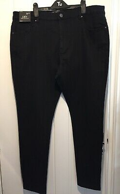 Ladies Simply Be Black Lucy Skinny High Waisted Jeans Uk Size 24l Bnwt • 9.99£