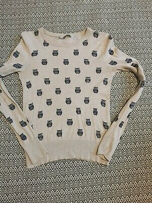 Jumper Sweater Cream With Owl Details Top Size S  • 1.20£