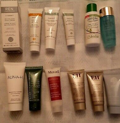 Travel Size Creams, Moisturizers,cleanser &  Shampoo. Mainly By Ren, EH, Estee L • 10£
