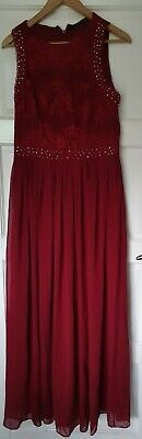 Ever Pretty Red Sequin Formal Dress- Size 16 • 12.99£