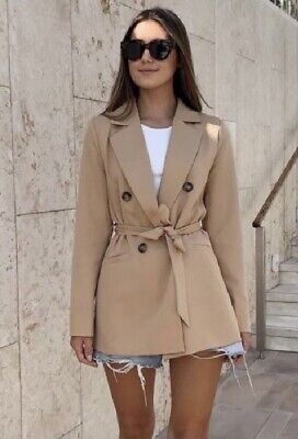 £30 • Buy Ladies Camel Double Breasted Belter Blazer BNWT Uk Size 12