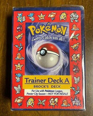 $39000 • Buy Pokemon Trainer Deck A,  Brock's Deck, Sealed - Mint .. No Offers