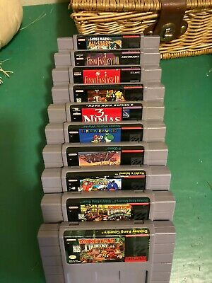 $ CDN426.66 • Buy SNES Lot 10 Final Fantasy 2+3,Mario Rpg 3 Ninja's+More Authentic Working Tested!