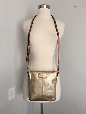 $ CDN38.11 • Buy Kate Spade New York Gold Leather Crossbody Bag