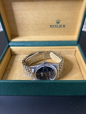 $ CDN7198.53 • Buy Rolex Oyster Perpetual DateJust 36mm 16234 - Blue Roman Numeral Dial (2002)