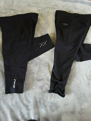 AU10 • Buy 'near New' North Face & 2xu 3/4 Sports Tights In Black, Size M (small Fit)