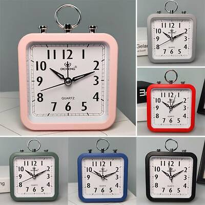 AU17.39 • Buy Snooz Retro Alarm Clock Square Wake Up Table Analogue Silent Travel Home Office