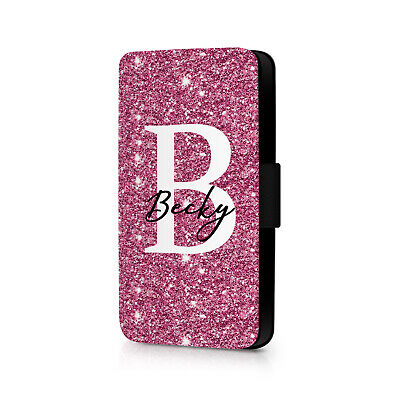 £6.99 • Buy Personalised Pink Glitter Design (Choose Your Name) Phone Flip Case For IPhone