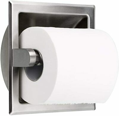 AU26.50 • Buy Recessed Toilet Paper Holder Wall Mounted Stainless Steel Tissue Roll Dispenser