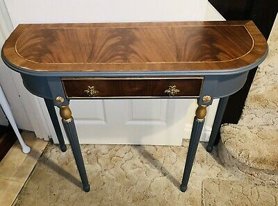 Stunning Antique Style Half Moon Console/Hall Table With Drawer • 8.90£