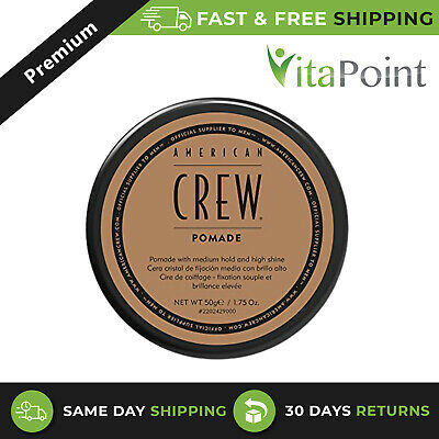 £8.49 • Buy American Crew Pomade,Medium Hold With High Shine For Curly Hairs 50g