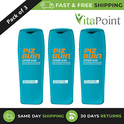 £15.01 • Buy Piz Buin After Sun Soothing Lotion With AloeVera & Mint Extract 200ml/ Pack Of 3