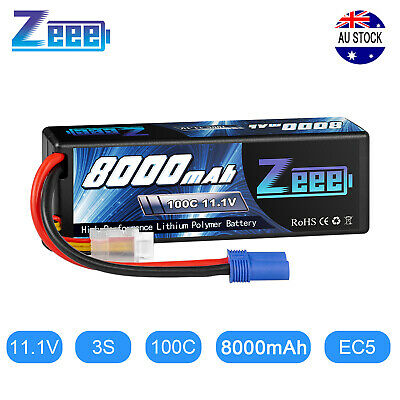 AU93.99 • Buy Zeee 8000mAh 3S 11.1V 100C EC5 Plug Hardcase LiPo Battery For RC Arrma Car Truck