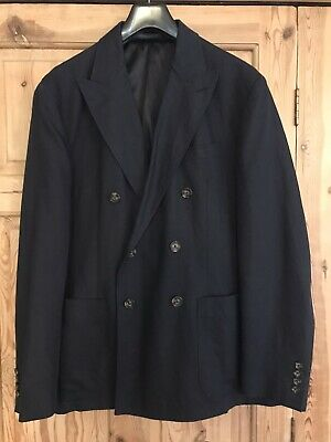 Polo By Ralph Lauren Navy Cotton Double Breasted Blazer Size44 • 65£