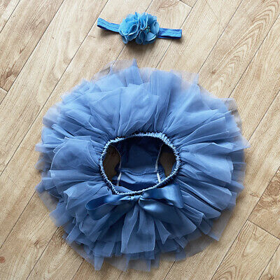 £14.99 • Buy Denim Blue Baby Tutu Skirt Knickers Girls Niece Headband Outfit Party Gift Set