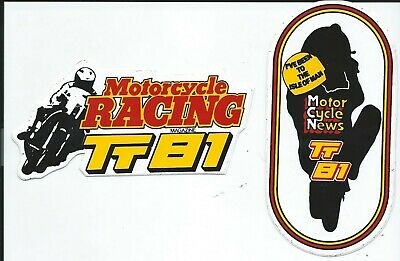 Original. Unused 2 X Stickers. 1981. Isle Of Man Tt Races. Manx. Mgp. Ugp. • 2£