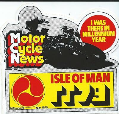 Original. Isle Of Man Tt Races. 1979. Unused Sticker. Manx. Mgp. Ugp. • 1.20£