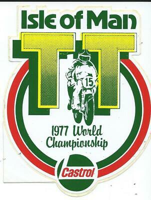 Original. Unused. Sticker. Mike Hailwood. 1977. Isle Of Man. Tt Races. Manx. Mgp • 2£