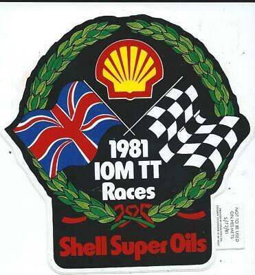 Original. Unused Large Sticker. 1981. Isle Of Man Tt Races. Shell. Manx. Mgp. • 2.50£