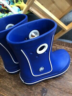 Crocs Jaunt Kids Boot Wellies Rain Boots Uk Size 10 11 • 6.88£