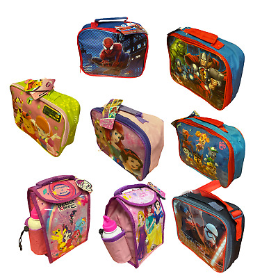 £4.99 • Buy Childrens Kids Character Novelty Insulated School Lunch Bag Dinner Food Box
