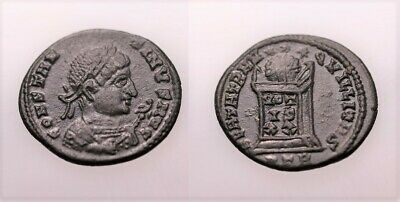 A Genuine Roman Bronze Coin Of The Constantine Period Trier Mint • 0.99£