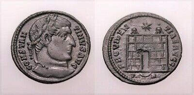 A Genuine Roman Bronze Coin Of The Constantine Period Arles Mint • 0.99£