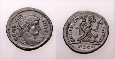A Genuine Roman Bronze Coin Of The Constantine Period Lyon Mint • 0.99£
