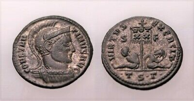 A Genuine Roman Bronze Coin Of The Constantine Period Thessalonika Mint • 7£