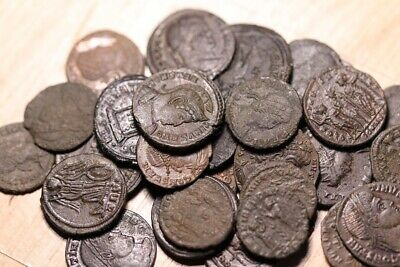 30 X Lower Grade Genuine Roman Bronze Coins Of The Constantine Period • 5£