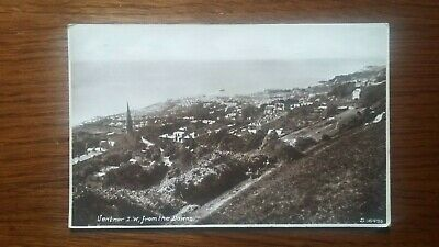 Ventnor, IOW, From The Downs - Old Postcard • 7£