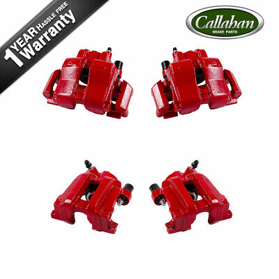 $306.40 • Buy Front + Rear Red Powder Coated Brake Calipers For Escape Tribute Mariner