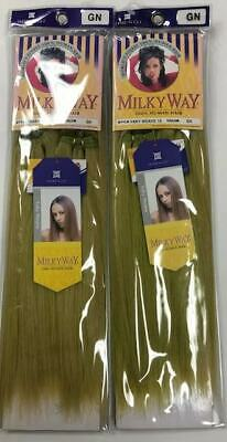 $12.99 • Buy Milky Way 100% Human Hair For Weaving - 2PACK OF 10  STRAIGHT HAIR(faded Green)