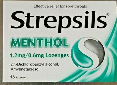 Strepsils Menthol 16 Lozenges For Sore Throats Free P&p One Day Dispatch • 4.99£