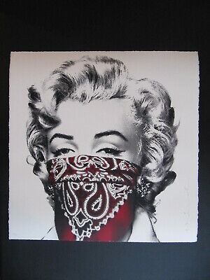 $1699.99 • Buy Mr. Brainwash Stay Safe Marilyn Monroe Red Signed Screen Print Poster MBW