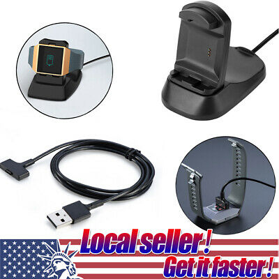 $ CDN8.77 • Buy For Fitbit Ionic Smart Watch Charging Cradle Dock Holder USB Cable Charger 0