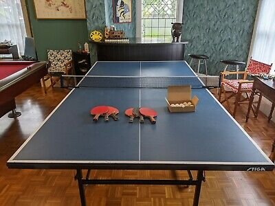 AU228.50 • Buy Stiga Club Roller 1500 Table-Tennis Table With Net, Bats, And Balls